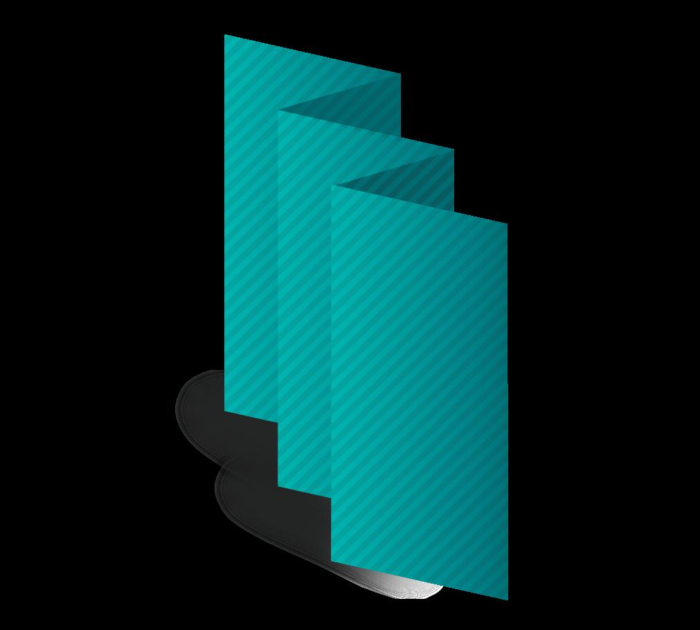 5.5x8.5 Accordian Fold Brochure Template