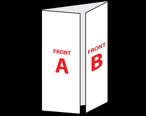 "8.5"" x 11"" Gate Trifold Brochure Folded"