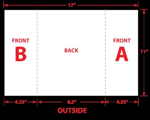 "8.5"" x 11"" Gate Trifold Brochure Flat"