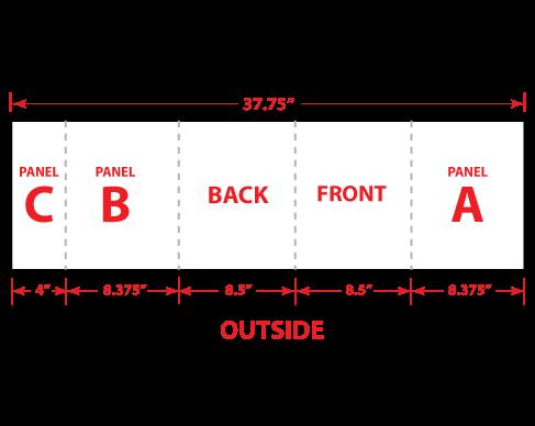 "8.5"" x 11"" Extended Gate Fold Brochure"