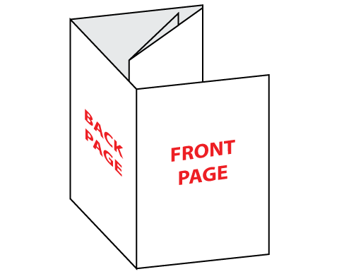 Barrel Fold Brochure Folded
