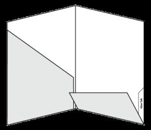 """9.5"""" x 12"""" Two Diagonal Pocket Folder"""