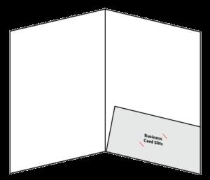 """9"""" x `12"""" One Pocket Folder Open"""