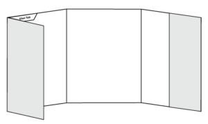 "9"" x 12"" Three Panel Side Pocket Folder"